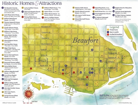 Beaufort Downtown Map