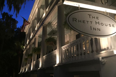 Rhett House Inn at Night